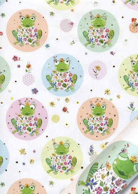 Papier Turnowsky grenouilles et bulles (50x70)