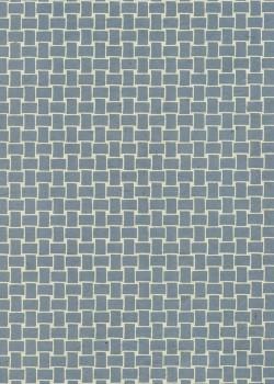 Lokta entrelacs bleu gris fond naturel (50x75)