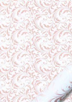 Arabesques en relief nacrées beige rosé (48x68)