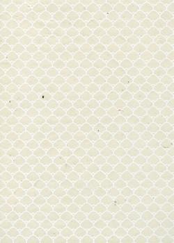 Lokta dômes blancs fond naturel (50x75)