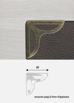 Angles papillon découpé bronze (25x25mm)