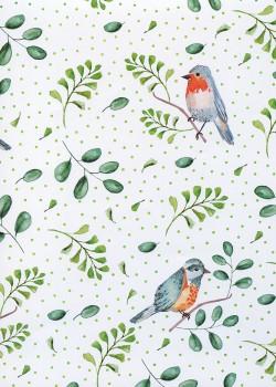 Les oiseaux d'hiver réhaussé or (68x98)