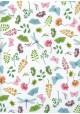 Libellules papillons et fleurs (68x98)