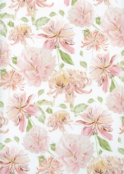 Floral ambiance rose (68x98)