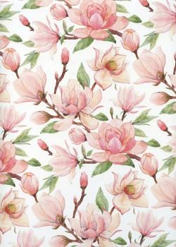 Fleurs de magnolia rose (68x98)