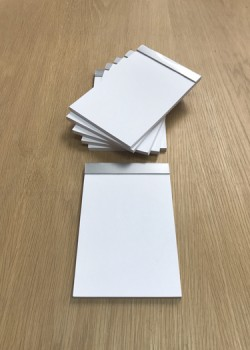 Bloc vierge 10x15cm feuilles blanches (60 pages)
