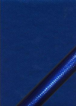 """Simili cuir métal """"Vipère"""" cobalt"""