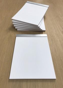 Bloc vierge 21x15cm feuilles blanches