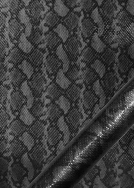 """Simili cuir métal """"Python"""" étain"""