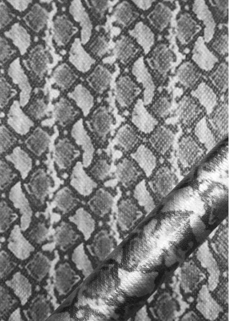 """Simili cuir métal """"Python"""" chrome"""