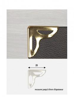 """Angles papillon découpé or """"redorés"""" (25x25mm)"""