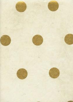 Lokta les pois or sur fond naturel (50x75)