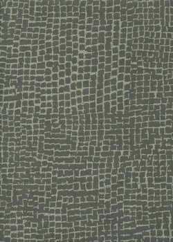 Lokta quadrillage vert de gris fond anthracite (50x75)