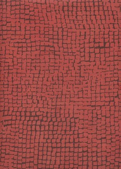 Lokta quadrillage chocolat fond rouge (50x75)