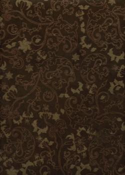 Lokta feuillage or et bordeaux fond brun (50x75)