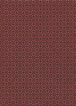 Lokta géométrique rouge et noir (50x75)