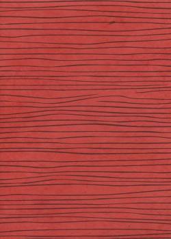 Lokta les lignes noires fond brique (50x75)