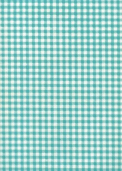 Ecossais baby doll turquoise (50x65)