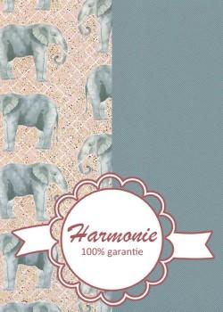 HARMONIE DUO Les éléphants bleu orage et rose