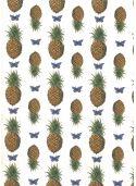 Planche d'ananas et de papillons (50x70)