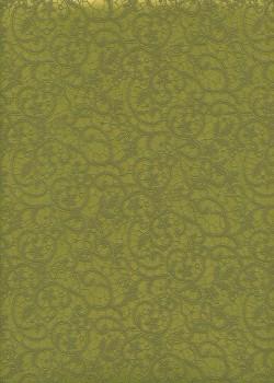 "Simili cuir ""Damas"" dentelle mat vert anis - Grand format (70x100)"