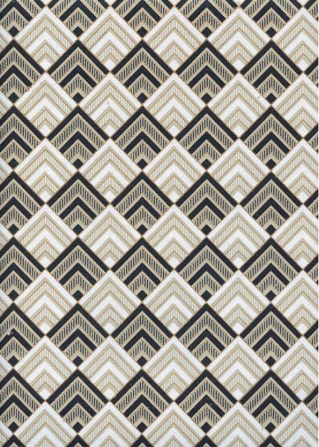 """Angle"" noir blanc et or (50x70)"