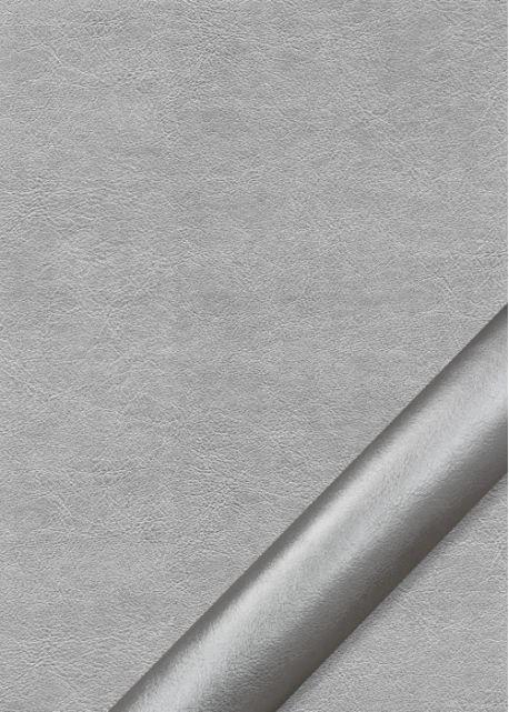 """Simili cuir """"Platinium"""" aluminium (70x100)"""