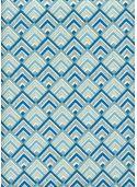 """""""Angle"""" bleu ivoire et or (50x70)"""