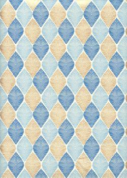 """""""Feuille"""" bleu et or (50x70)"""