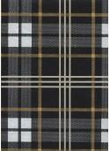 """""""Ecossais"""" noir blanc et or (50x70)"""