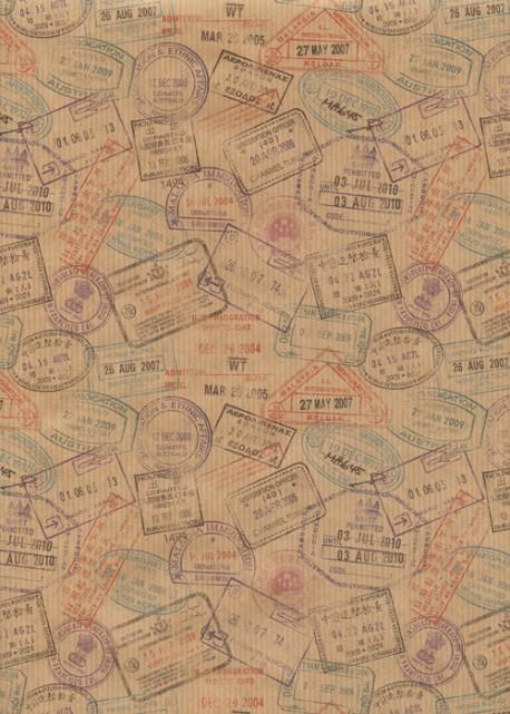 """Kraft fantaisie"" les visas (49,5x68)"