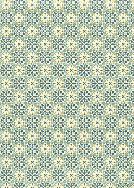 Les carreaux de Lisbonne réhaussés or (49,5x68)