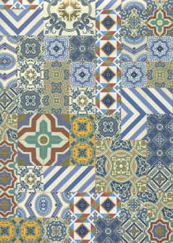 Azulejos de Porto réhaussés or (49,5x68)