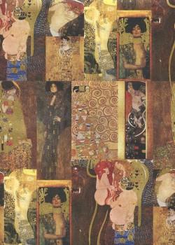 """""""Klimt"""" réhaussé or (49,5x68)"""