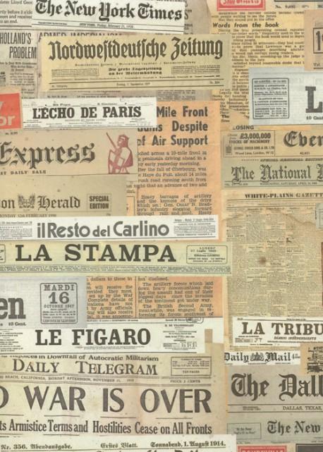 Les titres de journaux (49,5x68)