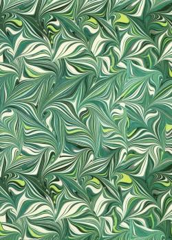 Papier marbré 2 tons vert (70x100)