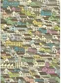 Les maisons colorées (70x100)