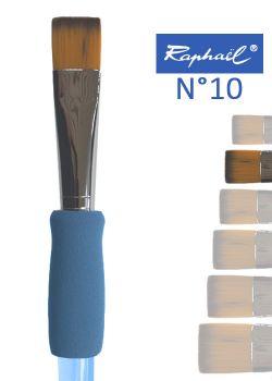 Pinceau à colle plat en nylon Raphael manche ergonomique très souple N°10