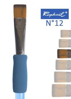 Pinceau à colle plat en nylon Raphael manche ergonomique très souple N°12