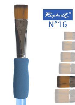 Pinceau à colle plat en nylon Raphael manche ergonomique très souple N°16