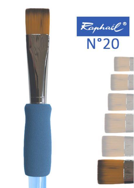 Pinceau à colle plat en nylon Raphael manche ergonomique très souple N°20