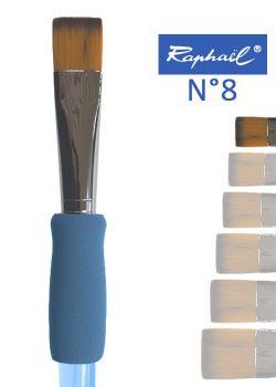Pinceau à colle plat en nylon Raphael manche ergonomique très souple N°8