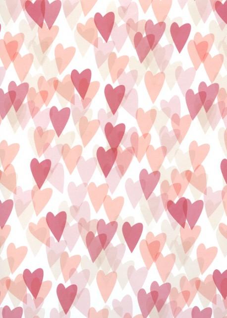 Les coeurs superposés tons acidulés (68x98)