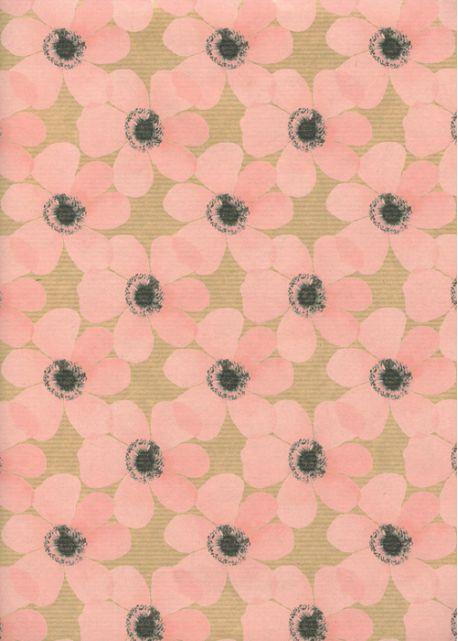 """""""Kraft fantaisie"""" floral rose (70x100)"""
