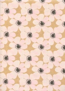 """""""Kraft fantaisie"""" floral blanc (70x100)"""