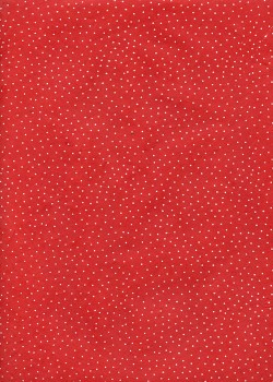 Lokta plumetis blanc fond rouge (50x75)