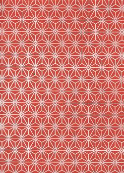 Lokta étoiles blanches fond rouge (50x75)