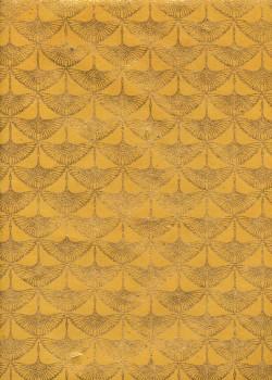 Lokta les grues or fond jaune (50x75)