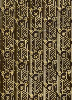 Lokta pharaon or fond noir (50x75)