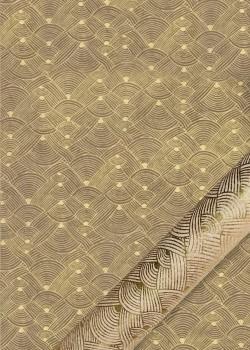 Lokta entrelacs or fond taupe (50x75)